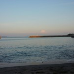 日の出 夕日(日の入り)の海
